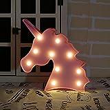 AIZESI Neon Nachtlicht,LED Neon Lampen, Motiv Rosa Flamingo Akku oder USB-betrieben, Tischbeleuchtung, Wanddekoration für Mädchen Schlafzimmer Wohnzimmer Weihnachten Party Schilder Festzelt, als Kindergeschenk Einhorn