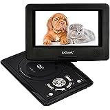 """ieGeek 12.5"""" Reproductor de DVD MP3 CD Multimedia Video Portátil (Batería interna , 2500mAh, USB, SD) con cargador de coche y joystick de juego, Negro"""