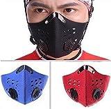 Bei wang Wind / Staub / kalt-Schutz-Gesichtsmaske mit Filter für Radfahren Fahrrad Motorrad-Ski (schwarz)
