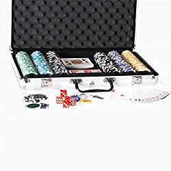 POKERKOFFER - 300 edle Pokerchips (schwerer Metallkern)