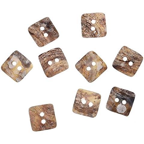 Liebe Engel 12mm Quadrati Shell Per Cucire Bottoni Confezione Da 100