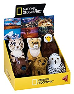 National Geographic por Lelly Pantalla de América del Norte Animales de Peluche (6-Piece, Natural)