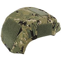 Casco de combate militar de casco de combate, casco de combate Airsoft Accesorios Ejército de Paintball caza de tiro de engranaje para Ops-Core Casco de balística rápida (no incluir casco), Aor2