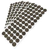 300 x almohadillas de fieltro, Ø 14 mm, redondas, marrón, autoadhesivas, de la máxima calidad (3.5 mm)