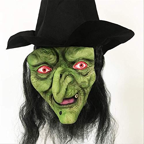 Beängstigend Hexe Maske - NAHSOAG Halloween-Maske Halloween Hexe Maske Halloween