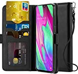 Ferilinso Cover per Samsung Galaxy A40, Custodia Cover Cuoio Genuino Reale con Custodia Slot Holder...