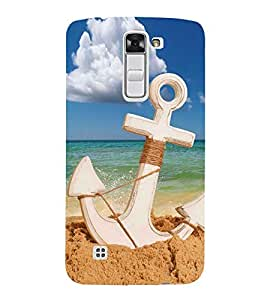 PrintVisa Anchor On Sea Side 3D Hard Polycarbonate Designer Back Case Cover for LG K10 :: LG K10 Dual SIM :: LG K10 K420N K430DS K430DSF K430DSY