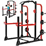 Physionics Multifunktionales Fitnessgerät Power Rack Kraftstation Kniebeugenständer Fitnessstation Trainingsstation Cage 165x150x210cm