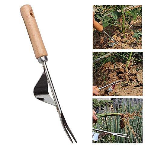 Baiwka - sarchiatore manuale in acciaio inox, con manico ergonomico per scavare, diserbare, diserbare, allentare la mano, humpback
