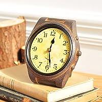 CNBBGJ Im Europaischen Stil American Retro Nostalgie Uhren Wohnzimmer Schrank Studie Weinschrank Dekoration