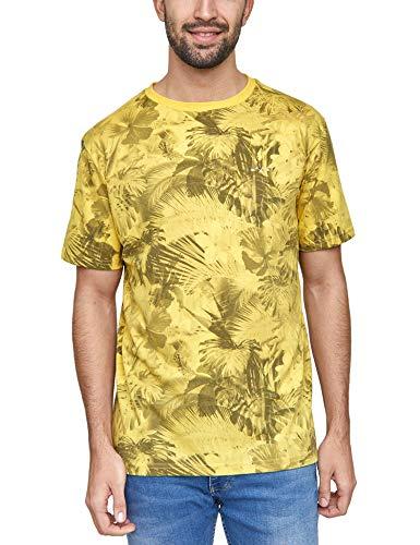 mazine - Herren - T-Shirt 'Keyser Allover T' - Urban Streetwear - Yellow - M -