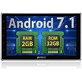 Pumpkin 10.1 Pouce Autoradio Android 7.1 Ecran Tactile Quad-core RAM 2GB, ROM 32GB, supporte Bluetooth GPS Commande au Volant 3G Wifi USB SD OBD2 DAB