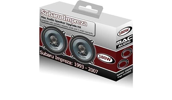 Adapter Ringe Pods 210/W Subaru Impreza Vordert/ür-Lautsprecher Pioneer Auto-Lautsprecher