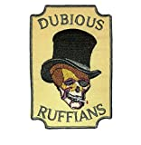 Dudosa ruffians calavera bordado iron on patch