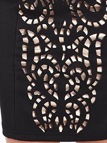 Ever Pretty Robe Casual Courte en col rond Noire 05270 Noir
