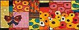wash+dry Fußmatte Polyester Bunt 75 x 190 cm
