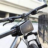 SYGoodBUY Lenkertasche für Smartphone Wasserdichte Rahmentasche für Fahrrad MTB Fahrrad (Farbe : Schwarz, Größe : Einheitsgröße)