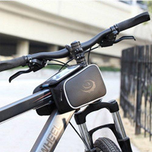 Lenkertasche für Smartphone sachoche-Rahmen resistent Wasser für Fahrrad MTB Fahrrad, schwarz - Kfz-versicherung Halter