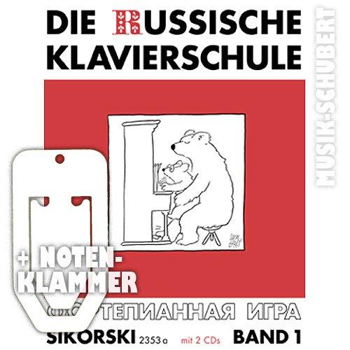 Die russische Klavierschule Band 1 (+2 CDs) inkl. praktischer Notenklammer - Klavier spielen lernen nach der berühmten russischen Klaviermethodik (Russische Klavierschule) (Taschenbuch) von Alexander Nikolajew (Noten/Sheetmusic)