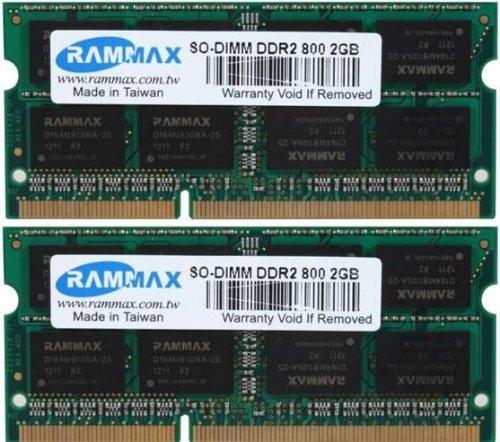 Pc2-6400 Ddr2 Dual Channel (RAMMAX 4GB (2x2GB) SO-DIMM Notebook Arbeitsspeicher Dual Channel Kit DDR2 800MHz PC2-6300 PC2-6400 CL5 200-Polig (Rechnung mit ausgewiesener MwSt))