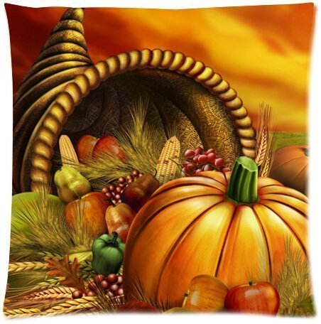 WITHY Happy Thanksgiving Day Harvest Festival Beautiful Design Cushion Case Throw Pillow Covers (Two Side),Cover Size:20 x 20 Inch(50cm x 50cm) Apple Harvest Festival