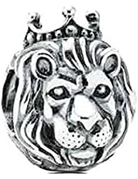 King Lion King of the Jungle 925 Sterling Silver Charm Bead Fits Pandora Charms