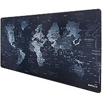 Anpollo Alfombrilla Raton Ordenador XXL Gaming Grande 900x400mm, Lavable, Base de Caucho para Gamers, PC y Portátil (Mapa Mundi)