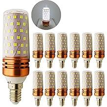 12x LED 10W/1000LM E14LED Bombilla Luz Blanca Fría 6000K con 84ledes SMD, 100W Lámparas Halógenas Repuesto, 12unidades)