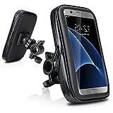 DaoRier Wasserdichte Fahrrad Motorrad Bike Hülle Schutzhülle ABS Universal Handyhalterung Fahrradhalterung Lenkstange Handy Halter Wasserabweisend für iPhone 5 5c 5s Samsung Galaxy S2 S3