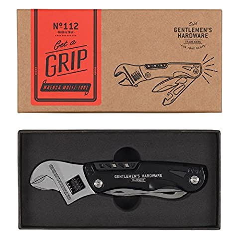 Gentlemen's Hardware Wrench Multi Tool with Torch - Grey