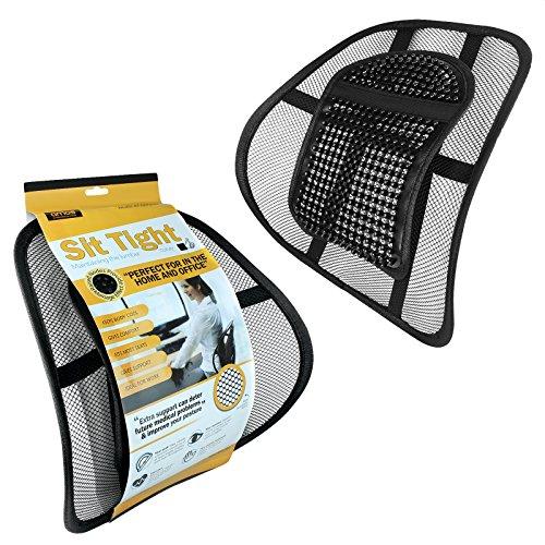 Preisvergleich Produktbild AMOS Sit Tight Super Komfort Rückenstütze Rückenlehne Gitter Lordosenstütze Lendenstütze für Büro Stuhl Sitz mit Elastischer Befestigungsband und Massage-Knoten