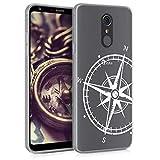 kwmobile LG Q Stylus Hülle - Handyhülle für LG Q Stylus - Handy Case in Weiß Transparent