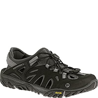 Merrell Men's All Out Blaze Sieve Low Rise Hiking Shoes, Black (Black/Wild Dove), 7