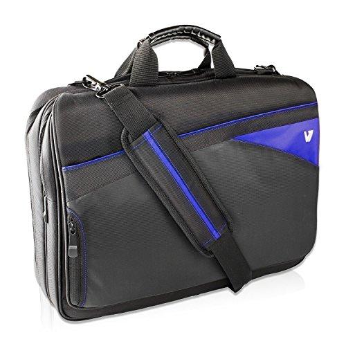 V7 CTD1-BLU-9E Edge Slim Toploader Notebook Tasche bis 16.1 Zoll schwarz / blau