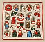 Geschenkestadl 24 Weihnachtsanhänger Weihnachtsmann Schneemann Engel Schaukelpferd Baumschmuck Weihnachten Deko Anhänger