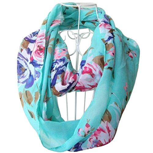 tapp-collections-multicolor-floral-print-infinity-scarf-cyan