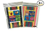 Wikki Stix Re-Usable Creative Fun Wax Covered Yarn Stix, Primary & Neon Colors, 96 Piece Mega Pack in Resealable Bag