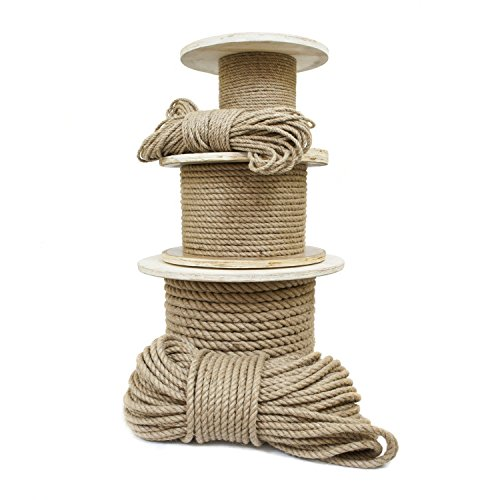 50m jute rope 46mm twisted 3-strand natural different sizes and lengths
