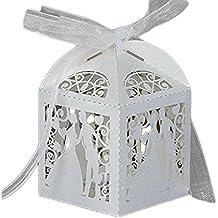 leisial piezas cajitas de boda dulces de novia y novio candy hueco caja papel regalos