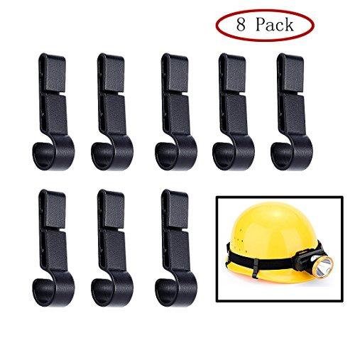 Haulonda Helm-Clips für Scheinwerfer, Scheinwerfer-Haken auf schmalem Rand Hardhat-Sicherheitskappe, 8 Stück -