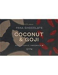 Pana Organic Raw Vegan Coconut Goji Chocolate, 45 g