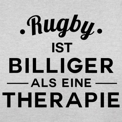 Rugby ist billiger als eine Therapie - Herren T-Shirt - 13 Farben Hellgrau