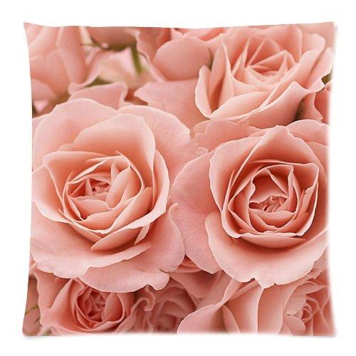 Violetpos Kissenhülle Deko Pink Rose Floral Sofa Zierkissenbezug Auto Zierkissenbezüge Kissenbezüge Bettwaren & Bettwäsche Kopfkissen Kissen 40 x 40 cm (Rosa Und Marine Baby-bettwaren)