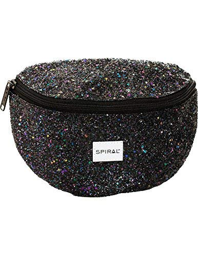 Spiral Black Stardust Bum Bag Sac Banane Sport, 24 cm, 3 liters, Noir (Black)