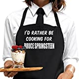 I'd Rather Be Cooking For Bruce Springsteen Apron, by BertiesBrand™. Mother's Day gift idea for fans, wrapping and message service available.