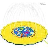 AIMADO 39/59/67 Zoll Splash Pad Sommer Wasser-Spielmatte Garten Wasserspielzeug für Kinder, Baby, Hund und Haustiere