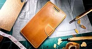 URCOVER® Akira Genuine Leather | Housse de Protection Nokia Lumia 930 | Cuir Véritable in Wallet marron | Étui Coque Mince Fermeture Magnétique Support Á rabat