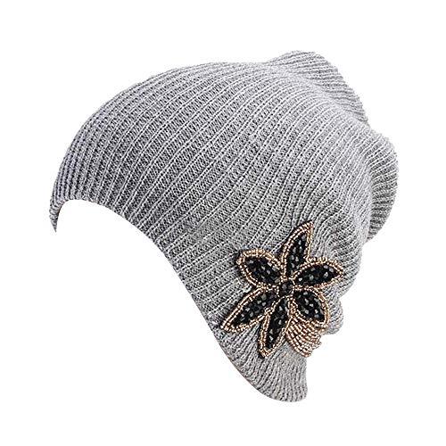 Cebbay Bonnet Femme Chapeau,Mode Béret Baggy Chaud Casquette Tisser Turban,Hiver Crâne Slouchy Chaud Wrap Hat Chapeaux Chic Headwear Beanie Cap
