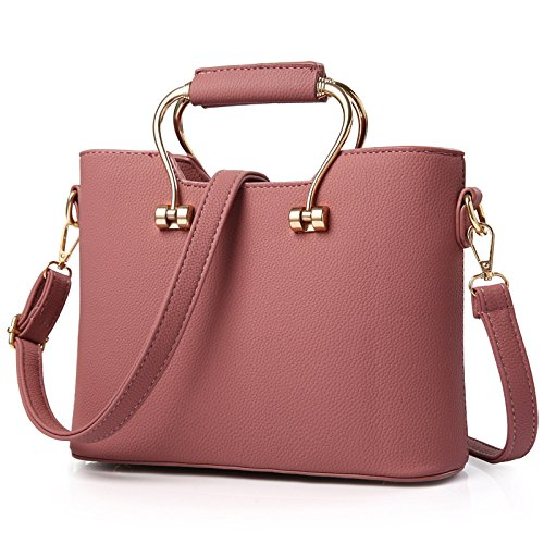 koson-man-womens-charming-noble-elegance-pure-color-fashionable-tote-bagspink