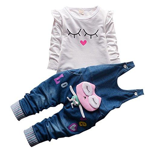 Baby Mädchen Langarm Shirt Overalls Latzhose 2 Stück Prinzessin Neugeborenen Kleinkind Kleidung Set -